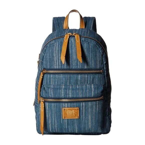 Frye Handbags - NWT Frye Ivy Backpack DENIM SCHOOL BAG LARGE